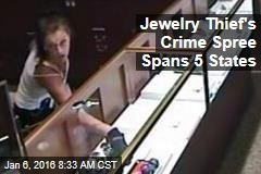 Jewelry Thief's Crime Spree Spans 5 States