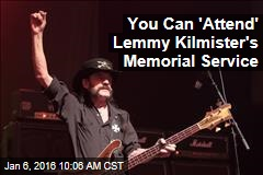 You Can 'Attend' Lemmy Kilmister's Memorial Service