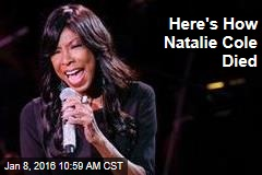 Here's How Natalie Cole Died