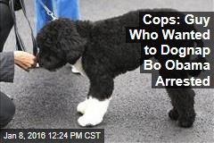 Cops: Guy Who Wanted to Dognap Bo Obama Arrested