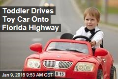 Toddler Drives Toy Car Onto Florida Highway