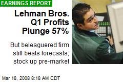 Lehman Bros. Q1 Profits Plunge 57%