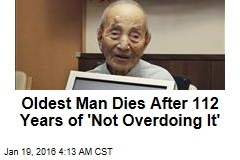 Oldest Man Dies After 112 Years of 'Not Overdoing It'