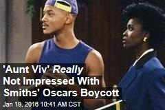 'Aunt Viv' Really Not Impressed With Smiths' Oscars Boycott
