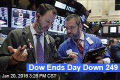 Dow Ends Day Down 249