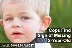Cops Find Sign of Missing 2-Year-Old