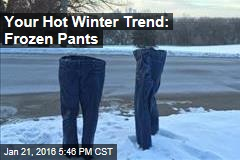 Your Hot Winter Trend: Frozen Pants