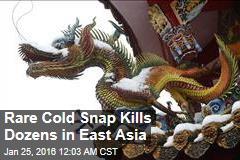 Rare Cold Snap Kills Dozens in East Asia