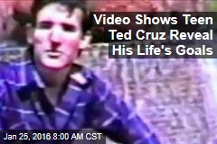 Video Shows Teen Ted Cruz Reveal His Life's Goals