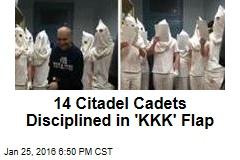 14 Citadel Cadets Disciplined in 'KKK' Flap