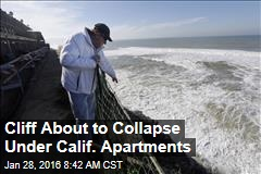 Cliff About to Collapse Under Calif. Apartments