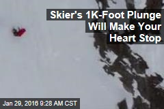 Skier's 1K-Foot Plunge Will Make Your Heart Stop