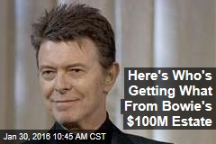Here's Who's Getting What From Bowie's $100M Estate