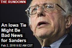 An Iowa Tie Might Be Bad News for Sanders