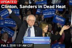 Clinton, Sanders in Dead Heat