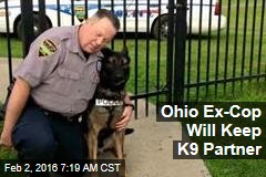Ohio Ex-Cop Will Keep K9 Partner