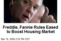 Freddie, Fannie Rules Eased to Boost Housing Market
