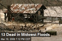 13 Dead in Midwest Floods