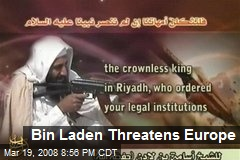 Bin Laden Threatens Europe