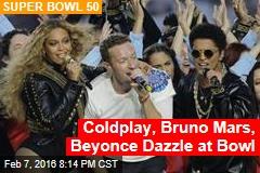 Coldplay, Bruno Mars, Beyonce Dazzle at Bowl
