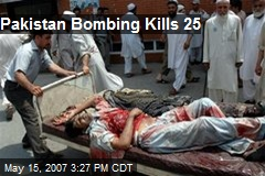 Pakistan Bombing Kills 25