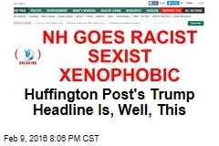 Huffington Post's Trump Headline Is, Well, This