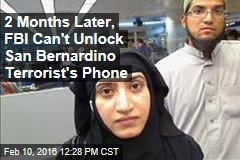 2 Months Later, FBI Can't Unlock San Bernardino Terrorist's Phone