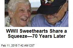 WWII Sweethearts Share a Squeeze—70 Years Later