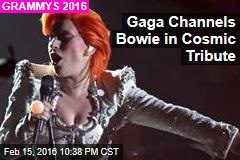 Gaga Channels Bowie in Cosmic Tribute