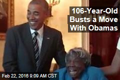 106-Year-Old Busts a Move With Obamas