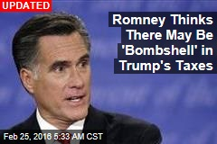 Mitt Romney Tells Trump to Release His Tax Returns