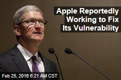 Apple Reportedly Working to Fix Its Vulnerability
