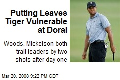 Putting Leaves Tiger Vulnerable at Doral