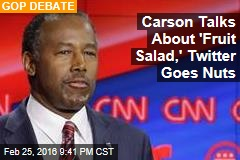 Carson Talks About 'Fruit Salad,' Twitter Goes Nuts