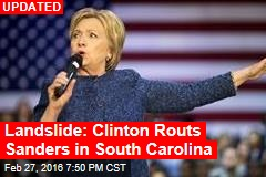Clinton Wins Easily in South Carolina