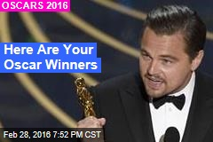 Here Are Your Oscar Winners