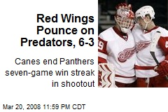 Red Wings Pounce on Predators, 6-3