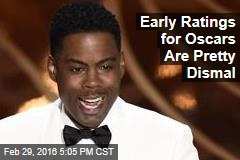 Early Ratings for Oscars Are Pretty Dismal