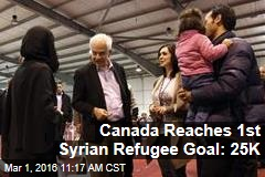 Canada Reaches 1st Syrian Refugee Goal: 25K