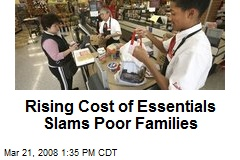 Rising Cost of Essentials Slams Poor Families