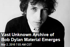 Vast Private Archive of Bob Dylan Material Emerges