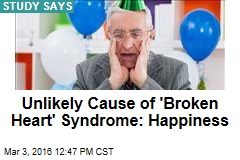 Unlikely Cause of 'Broken Heart' Syndrome: Happiness