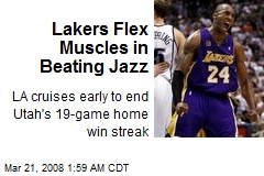 Lakers Flex Muscles in Beating Jazz