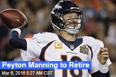 Peyton Manning to Retire