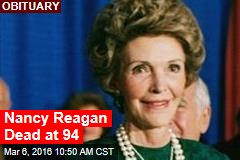 Nancy Reagan Dead at 94
