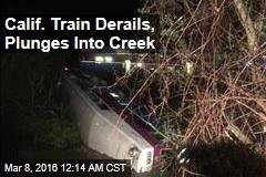 Calif. Train Derails, Plunges Into Creek
