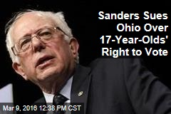 Sanders Sues Ohio Over 17-Year-Olds' Right to Vote