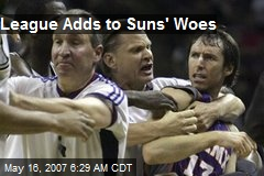 League Adds to Suns' Woes