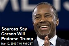 Sources Say Carson Will Endorse Trump