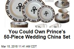 You Could Own Prince's 50-Piece Wedding China Set
